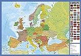 Grupo Erik - Sous-Main Bureau Carte Europe | Sous-Main Bureau Enfant | Protège Bureau Enfant 34 x 49cm