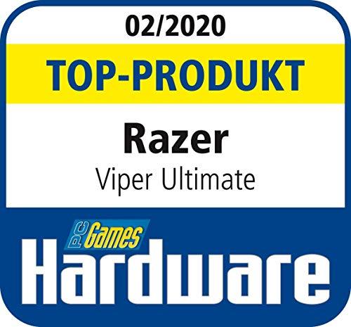 Razer Viper Ultimate - Wireless Esports Gaming Mouse (Kabellose beidhändige Gamer Maus mit 74g Gewicht, Speedflex-Kabel, optischer Fokus+ Sensor und RGB Chroma Beleuchtung) mit Ladestation - Schwarz
