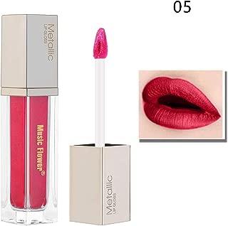 Amapower Metallic Lip Gloss Diamond Glitter Shimmer Matte Liquid LipstickWaterproof Moisturizer Long Lasting(5)