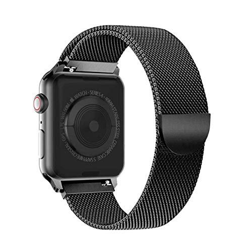 Correa de pulsera de repuesto trenzada de acero inoxidable para iWatch serie 6/5/4/3/2/1 / SE. La correa de Apple Watch es compatible con las pulseras deportivas unisex de 38/40/42/44 mm
