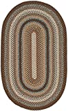 Safavieh Braided Collection BRD313A Hand-woven Reversible Area Rug, 8' x 10' Oval, Brown/Multi