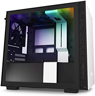 NZXT H210i - CA-H210i-W1 - Mini-ITX PC Gaming Case - Front I/O USB Type-C Port - Tempered Glass Side Panel Cable Managemen...