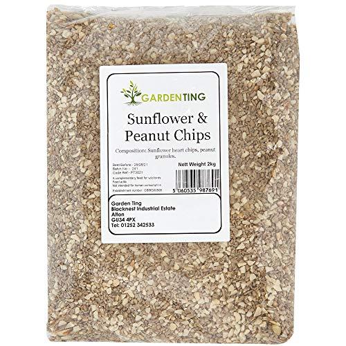 Garden Ting Sunflower and Peanut Chips Wild Bird food, 2kg