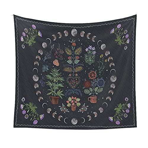 Tapiz de mandala grande para colgar en la pared, manta de playa de algodón indio, decoración bohemia de estrella y luna, alfombra de meditación y yoga, 150x200 cm-ZJCX01-2_El 150 * 200cm