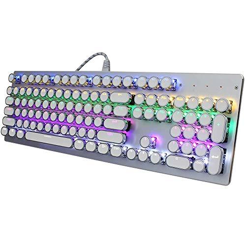 XIUYU Accesorios Teclado de Ordenador, V800 Punk Claves Tapa