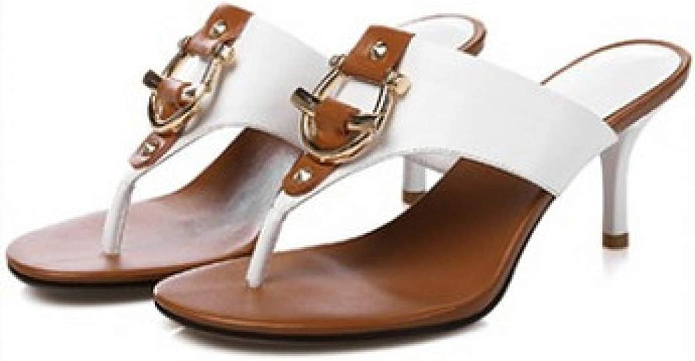 MEIZOKEN Buckle Flip Flops Women Sandals Sexy Leather shoes Women Slippers Comfort Ladies shoes