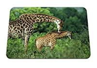 22cmx18cm マウスパッド (キリンカップル草カブケアウォーク) パターンカスタムの マウスパッド