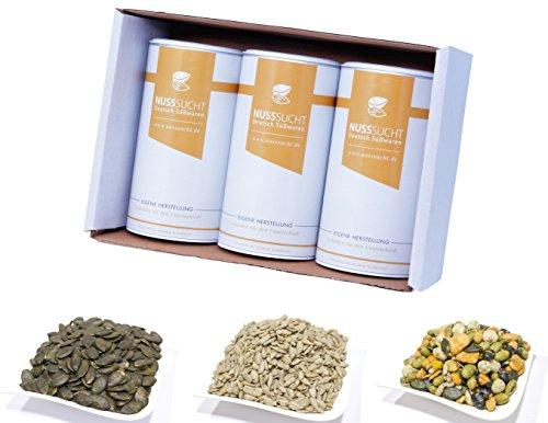 Salat mix Set | Salatkerne | Nussmischung Vorteilspack | 3x250g Bundle | Geröstete Kürbiskerne | Sonnenblumenkerne naturell | Salat mix mischung