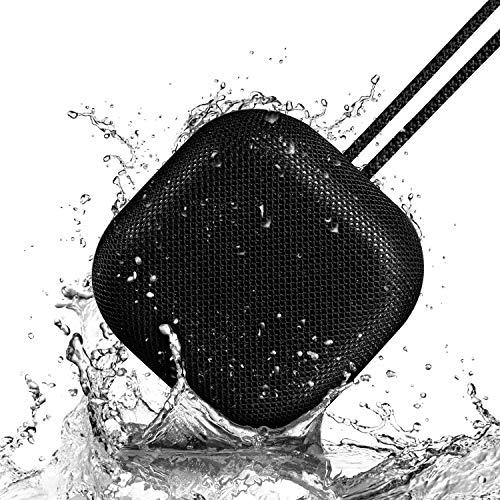 OMThing Wireless Bluetooth Lautsprecher, HD-Sound, Stereo Bass, 12-Stunden-Spielzeit, IPX7-Wasserdicht, integrierter Freisprecheinrichtung und einfacher Kopplung Schwarz.