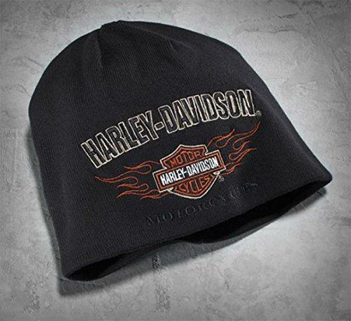 Cappello Berretto Reversibile Orig. Harley Davidson Flame Knit Hat 99509-12VM Idea Regalo