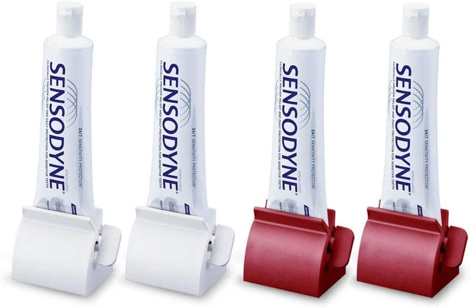 4 Pack Bathroom Rolling Toothpaste Very popular! Dispenser Many popular brands Squeezer Tube