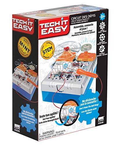 Tech it Easy DES18410 Circuit des défis heiße Draht, STEM Bausatz für eine elektronische Motorikschleife, Mint Baukasten mit Elektronikbauteilen, Konstruktionsbaukasten für Kinder ab 8 Jahre, weiß