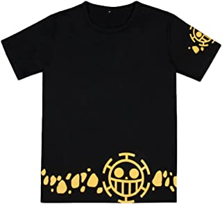 Anime One Piece Trafalgar Law Short Sleeve T-Shirt Cosplay Costume