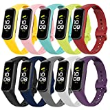 Tkasing Compatible with Samsung Galaxy Fit 2 Strap Bands,Soft Silicone Replacement Watch Bands for Samsung Galaxy Fit 2 R220 for Women Men