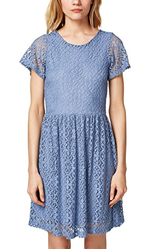 ESPRIT Damen 058EE1E002 Kleid, Blau (Blue Lavender 425), Large