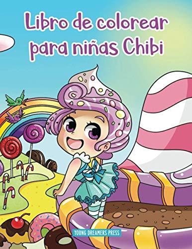 Libro de colorear para niñas Chibi: Libro de colorear de Anime para niños de 6-8, 9-12 años: 10 (Cuadernos para colorear niños)