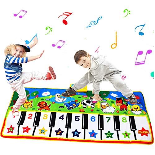PROACC Klavier Playmat größte Größe (53 * 23 Zoll) Kinder Klaviertastatur Musik Playmat Spielzeug, lustige Tanzmatte für Babys Kleinkind Jungen und Mädchen Geschenk …
