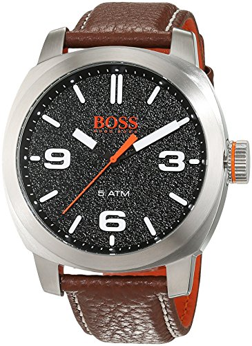 Hugo Boss Orange Cape Town Herren-Armbanduhr Analog mit braunem Leder Armband 1513408