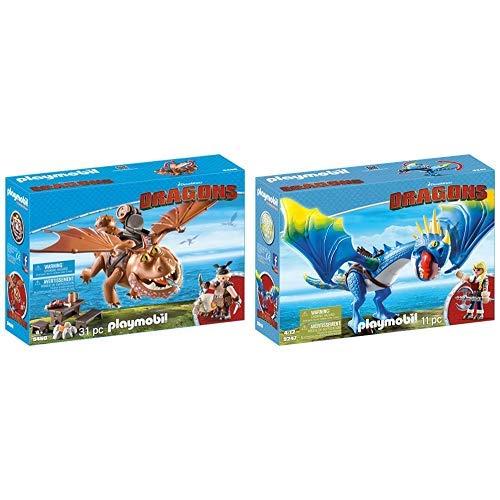 PLAYMOBIL 9460 Spielzeug - Fischbein und Fleischklops Unisex-Kinder &  9247 - Astrid und Sturmpfeil