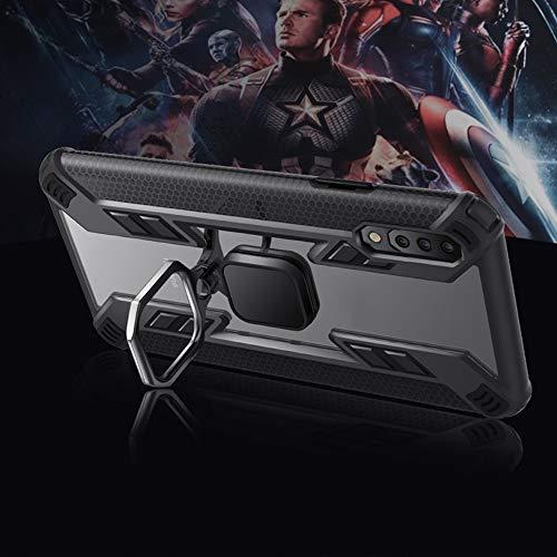 Capa Anel Transparente detalhes pretos para Xiaomi MI A3 e Película Full Cover - Lançamento!
