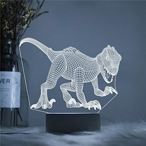 LED Jurassic Period Park Dinosaur Series 3D LED Night Light USB Lámpara de mesa Niños regalo de cumpleaños Mesita de noche decoración del hogar