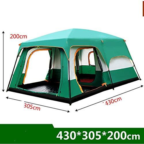 NA Outdoor-Zelt wasserdichtes Zelt Zelt zweilagige Ultraleicht 8er Strandzelt Wandern Zelt (Color : 430 x 305 x 205cm)