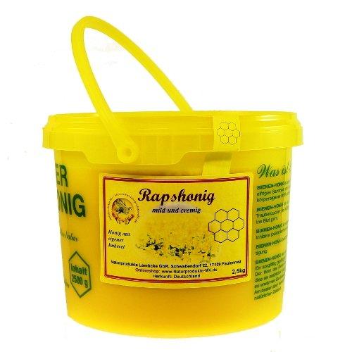 Rapshonig 2,5 kg Eimer Herkunft: Deutschland Raps Blütenhonig Honig