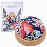 eZAKKA Pin Cushion Pin Cushions for Sewing Wooden Base Needle Pincushions (Japanese Style)...