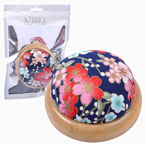 2 Pieces Wrist Pin Cushion Wooden Base Tomato Pincushion Wearable Needle Pincushions for Sewing or DIY Crafts