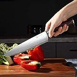 PAUDIN Kochmesser Küchenmesser 20cm Profi Messer Chefmesser Allzweckmesser aus hochwertigem Carbon Edelstahl, Extra Scharfe Messerklinge mit ergonomischer Griff - 9