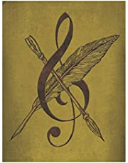 Music Manuscript Paper Notebook, Blank Sheet Music for Song Writing & Composition - Cleft and Pen: 150 Pages, Blank Sheet Music & Blank 12 Stave Pages