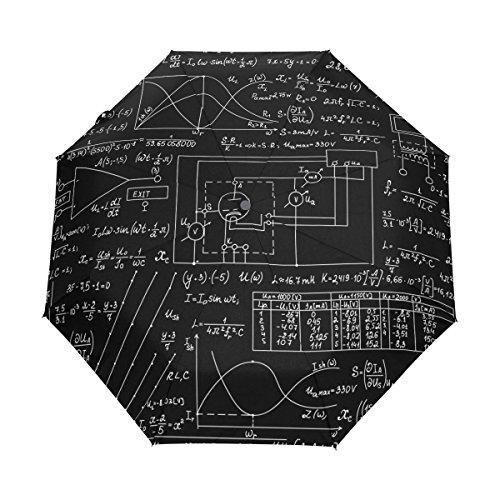 Naanle Electronic Physics Formulas Auto Open Close Foldable Windproof Travel Umbrella
