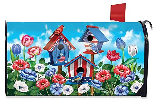 Briarwood Lane American Birdhouses Summer Magnetic Mailbox Cover Patriotic Standard