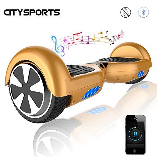 CITYSPORTS Balance Board 6.5 Pulgadas, Patinete Eléctrico Balance Board Inteligente Scooter 2x350W con LED Luces, Bluetooth