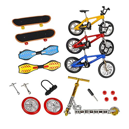 #N/A/a 8 unids/Set Mini Finger Skateboard Finger Bikes diminuto Swing Board Fiesta favores para niños