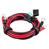 YCIND 3/8' Ring Eyelet Terminal Battery Boost Cable Heavy Duty 30A Fuse 12V/24V 12AWG Cord 6Ft