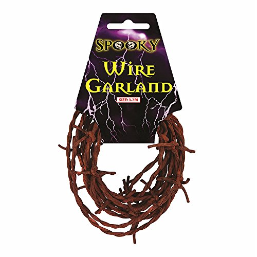Rusty Rustic Garland Barbed Wire for Halloween Party Decorations & Accessories 3.7M Long