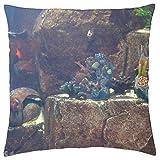 Générique Atlantis - Funda para Acuario, poliéster, Colour One, 18 X 18 Inches