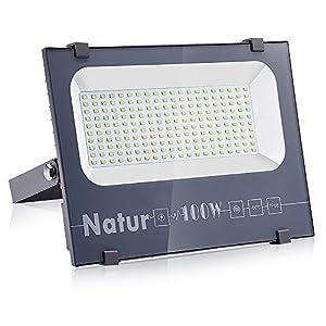 100W Foco LED, bapro Focos Led Exterior, Foco Proyector LED Potente Luce 10000 Lúmenes, IP66 Impermeable Luz de Seguridad 6000K Blanco Frío Exterior Lampara para Terraza Jardín Garaje Patio Fábrica
