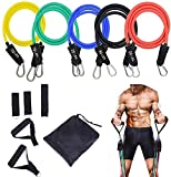 STARISE Resistance Bands Set - 5-Piece Exercise Bands - Portable Home Gym Accessories - Stackable Up...