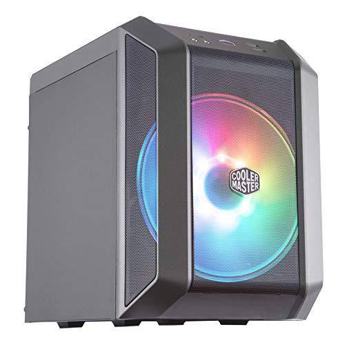 Cooler Master MasterCase H100 ARGB – Caja PC Mini-ITX con Potente Flujo de Aire, Chasis Compacto Frontal Mallado, Capacidad de Hardware Flexible