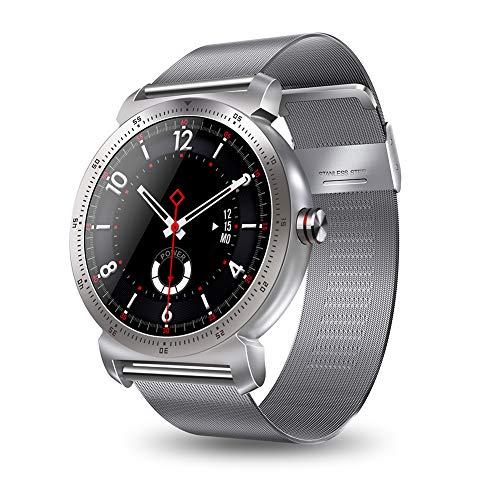 """XZYP K88H Reloj Inteligente, Material De Metal 1.3""""Pantalla A Color Ip67 A Prueba De Agua PodóMetro Monitor De PresióN Arterial Monitor De Fitness Pulsera Inteligente (Correa MetáLica)"""