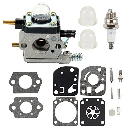 Carburetor + Carb kit for ZAMA C1U-K54A Echo Mantis Tiller Cultivator TC-210 TC-210i TC-2100 SV-6 SV-5H SV-5C SV-5Ci SV-4B LHD-1700 HC-1500 for 2-Cycle Mantis 7222 7222E 7222M Replace 12520013128 -  Buckbock