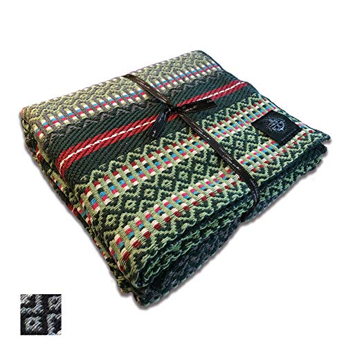 Craft Story Decke Bruno I Apfel-grün - Tanne - rot - türkis - weiß gestreift aus 100% Baumwolle I Tagesdecke I Sofa-Decke I Couch-Überwurf I Bedspread I Plaid I 140 x 210cm