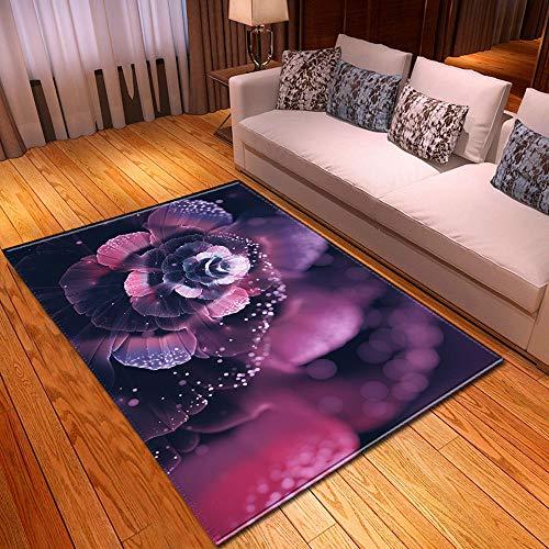 LHGBGBLN Dream Flower Sala de Estar Dormitorio Alfombra 3D Alfombra de Pasillo Alfombra de Piso Abstracta Alfombra Antideslizante