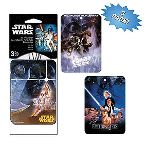 Star Wars Villain Superhero Cartoon Comics Películas caracteres coche camión SUV Home Office Garaje Pack de 3Ambientador