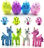Anditoy Unicorn Deformation Toys in Plastic Easter Eggs for Kids Boys Girls Toddlers Easter Gifts Basket Stuffers Fillers