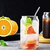 Elitlife 8er Set Edelstahl Trinkhalme löffel, Wiederverwendbare, spülmaschinengeeignete Trink-Löffel, 2 in 1 Strohhalm & Löffel ideal als Latte Macchiato und Cocktail-Löffel, Farbe: Silber - 4