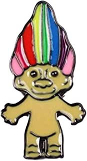 Main Street 24/7 Rainbow Troll Metal Enamel Pin