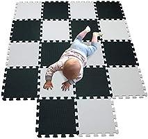 MQIAOHAM playmats for baby foam mat jigsaw puzzle mats exercise home gym equipment children flooring colour playmat...